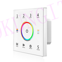 85-265VAC 4 Zonen 2 4G 1-5 Farbe Touch Panel Fernbedienung T15 DMX512 master RGB + CCT control panel fernbedienung