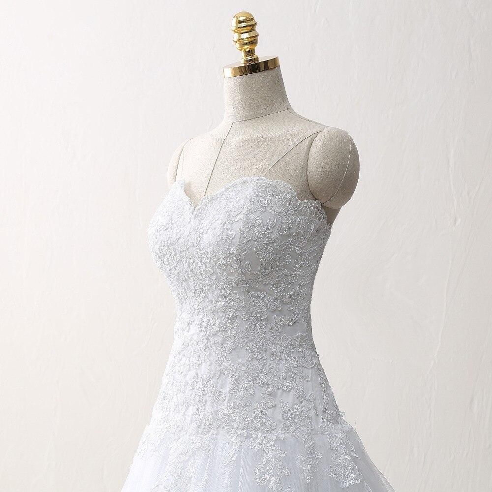 Vestido De Noiva Lace Trouwjurk Gelinlik элегантное А-силуэт Милая Аппликация Тюль свадебное платье