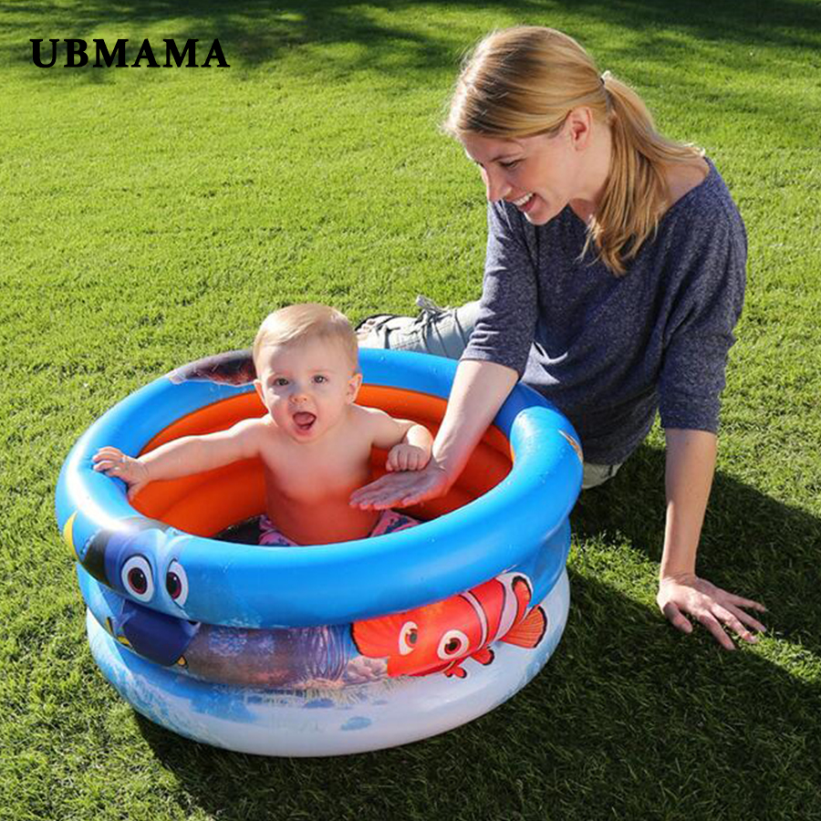 3 Layers Fish Bright Inflatable Round Bottom Inflatable Children's Ocean Ball Pool Baby Play Swimming Pool 70*30cm