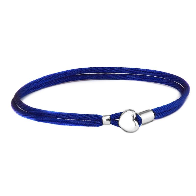 Pandulaso Dark Blue Fabric Cord Bracelets For Woman DIY jewelry making Fit European Beads & Charms Sterling silver jewelryPandulaso Dark Blue Fabric Cord Bracelets For Woman DIY jewelry making Fit European Beads & Charms Sterling silver jewelry
