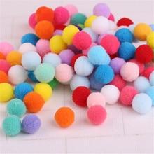 300pcs Small Multicolour DIY Decoration Ball 20mm Fur Ball Pompon Home Decor Decorative Flowers Crafts Diy Jewelry Accessories