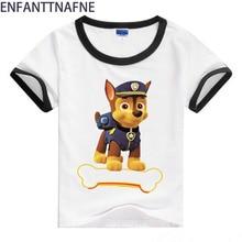 아기 어린이 강아지와 마우스 인쇄 T - 셔츠 아기 만화 스타일 티 탑 소년 소녀 여름 짧은 소매 옷 소년 티셔츠