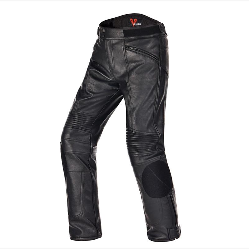 Men's Motorcycle PU Leather Pants Motocross Waterproof Pants Dirt Bike Trousers Racing Riding Windproof Moto Protective Pants