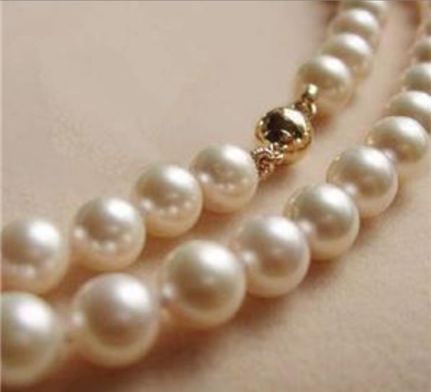 9-10MM AAA White Akoya Pearl Necklace 17 9-10MM AAA White Akoya Pearl Necklace 17