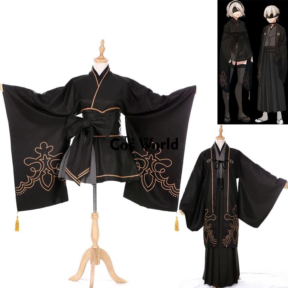 NieR Automata Heroine YoRHa No. 2 No. 9 Type B Type S Kimono Yukata Suits Dress Uniform Cosplay Costumes
