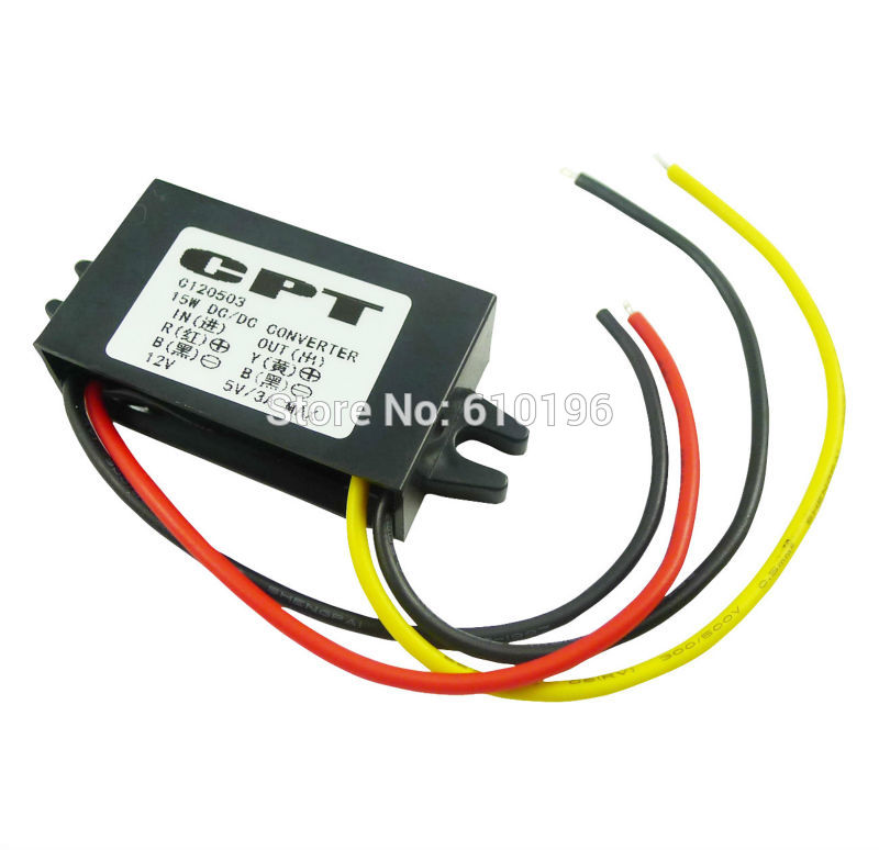 12 V turn 5 V / 3 A / 15 W , Car LED Display Power DC-DC Converter Power Supply Module12 V turn 5 V / 3 A / 15 W , Car LED Display Power DC-DC Converter Power Supply Module