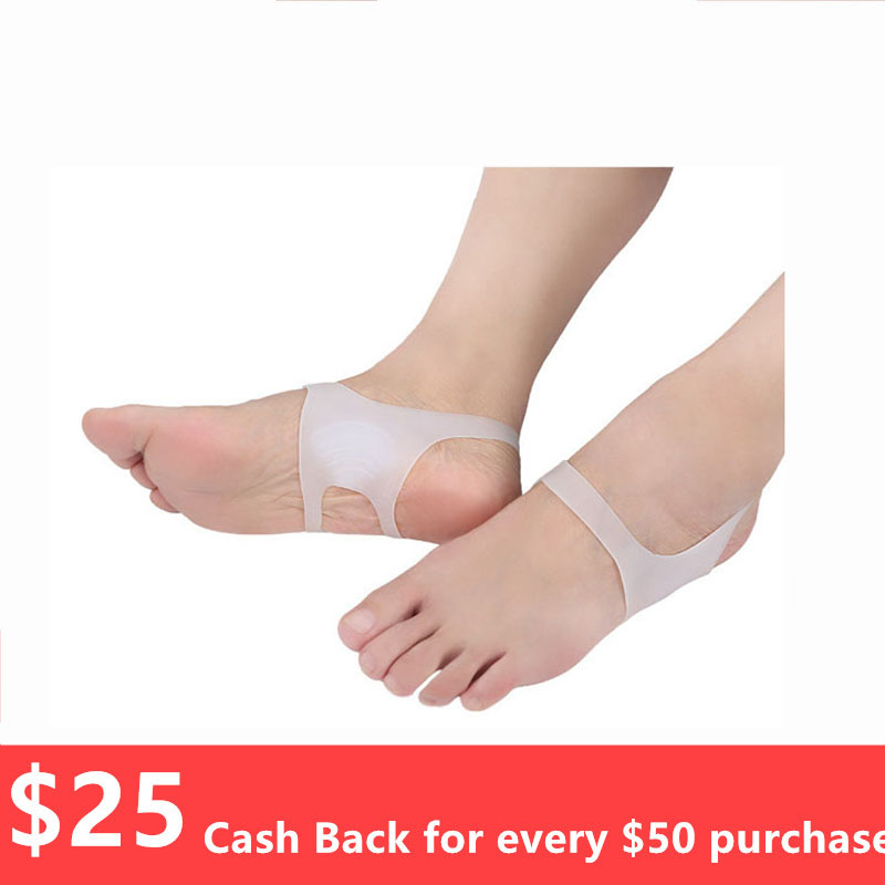 2pcs/lot Soft Silicone Foot Arch Elasticity Bandage Non-toxic Prevent O/X Leg Foot Valgus Correction Freedom Of Walking T0674CMK