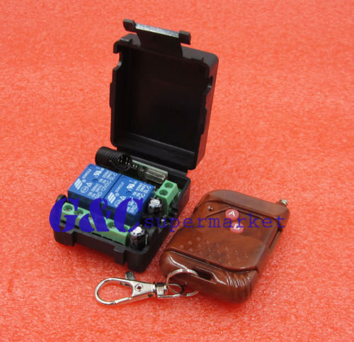 DC 12 v 10A relais 2CH sans fil RF Télécommande Interrupteur Émetteur + Récepteur de voiture