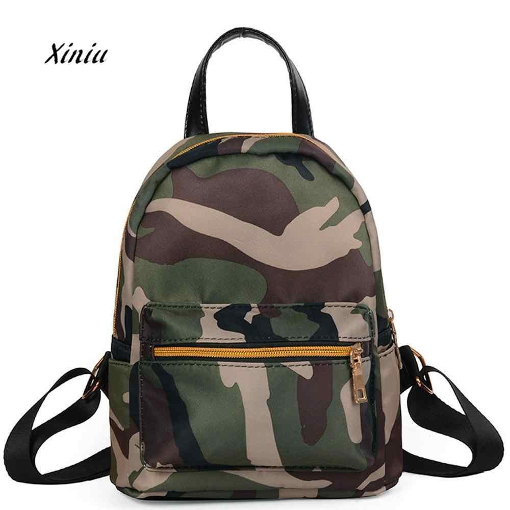 Women Teenage Girls Backpack Boys Solid Zipper School Bag Fashion Camouflage  Shoulder Bag Female Travel Backpack 337dbaab36718