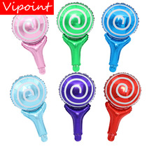 VIPOINT PARTY 48x28cm Lollipop Foil Balloons-10 Pieces Wedding Event Christmas Halloween Festival Birthday Party HY-247