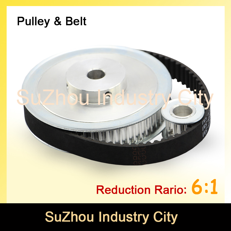 Timing Belt Pulley 5M Reduction  6:1 60teeth 10teeth  shaft center distance 80mm  Engraving machine accessories - belt gear kit xl reduction 1 6 6 1 10t 60t timing pulley gear set shaft center distance 100mm for engraving machine timing belt pulley kit