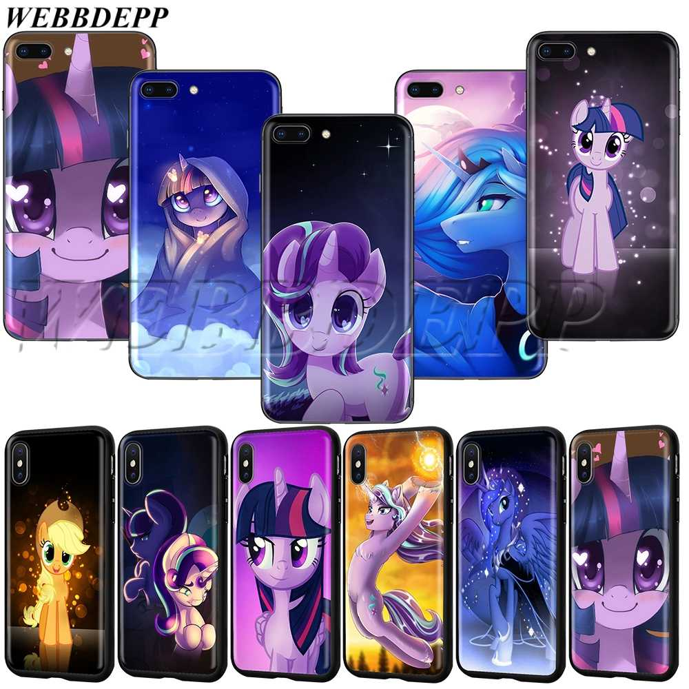 Мягкий чехол для iPhone XS MAX XR X 8 7 6 6S Plus WEBBEDEPP My Little Pony Rainbow Dash Clouds