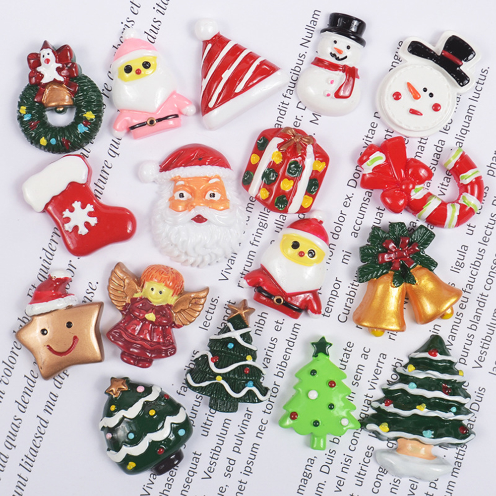 Christmas Supplements Charms For Slime DIY Polymer Filler Addition Slime Accessories Toys Lizun Modeling Clay Kit For Children