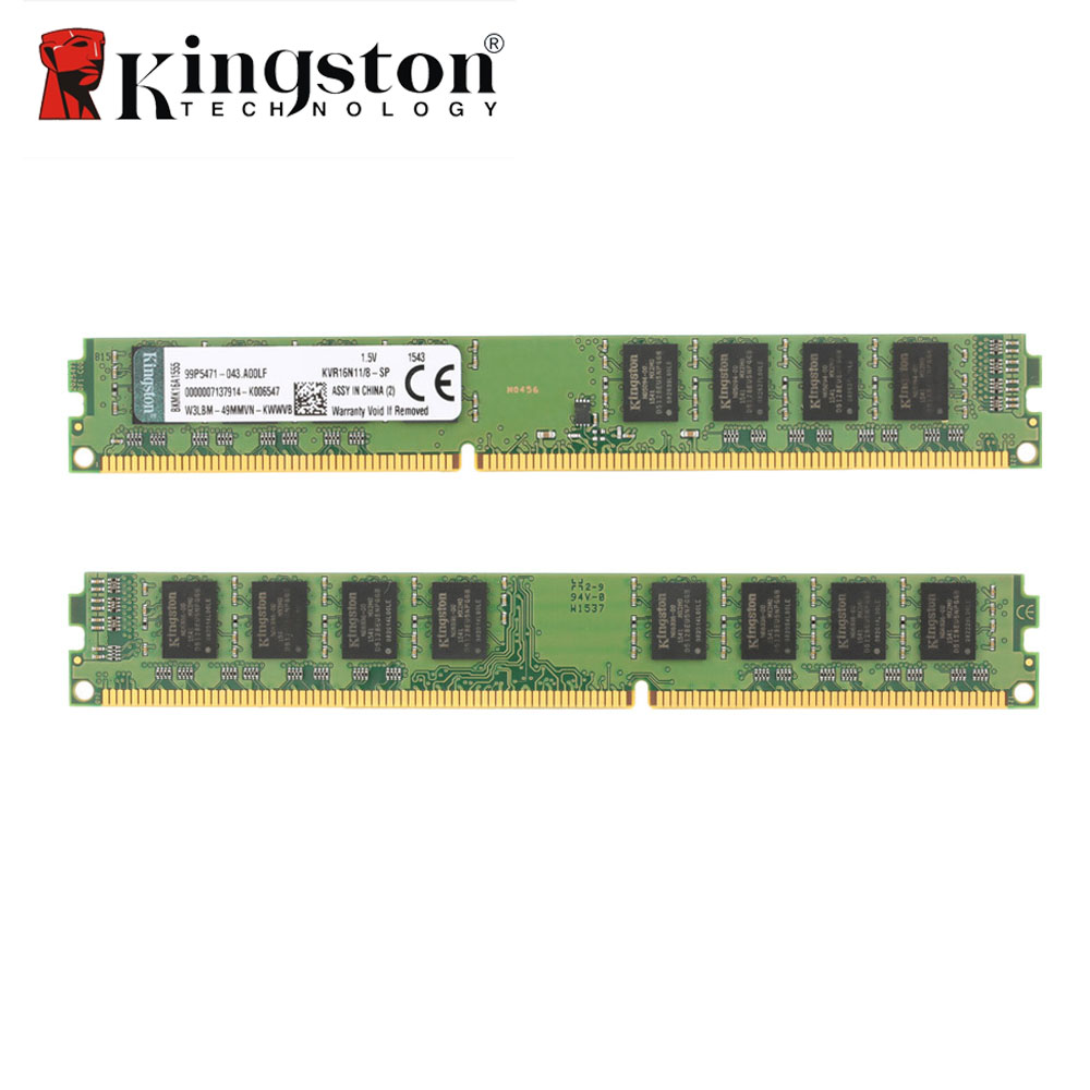 Hot Sale Original Kingston KVR Desktop RAM 1600MHz 8G Non ECC DDR3 PC3-12800 CL11 240 Pin DIMM Motherboard Memory for PC desktop