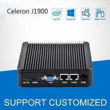 Fanless Mini PC Intel Windows 10 Celeron J1900 2 LAN Quad Core Multi Mini Computer Desktop