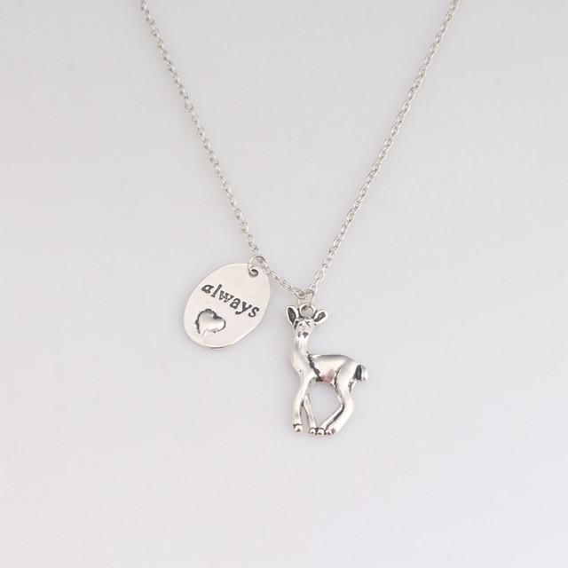 Always said snape necklace silver always heart doe pendant necklace always said snape necklace silver always heart doe pendant necklace deer necklace aloadofball Choice Image