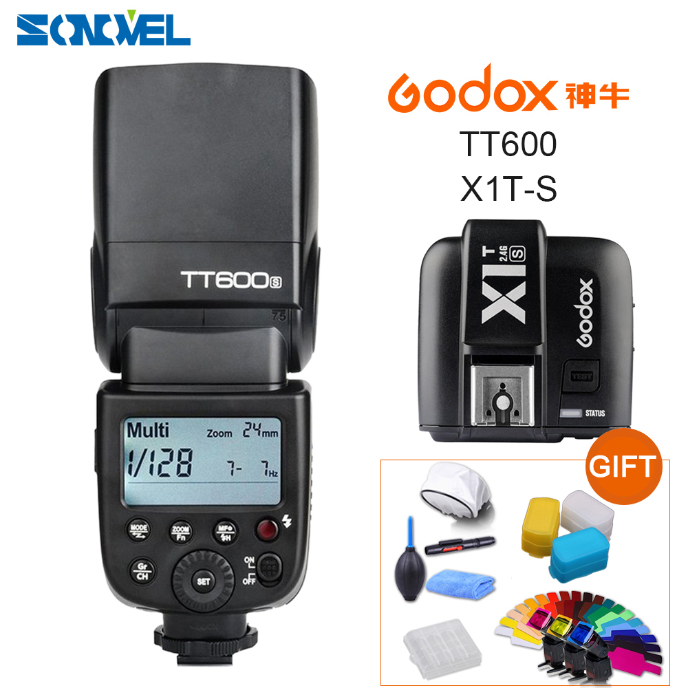 Godox TT600s HSS GN60 2.4G Camera Flash Speedlite + X1T-S Transmitter for Sony A9 A7 A7S A7R A7 II A6500 A6300 A6000 A99 RX10 godox tt600s flash speedlite for sony multi interface mi shoe cameras a7 a7s a7r a7 ii a6300 etc