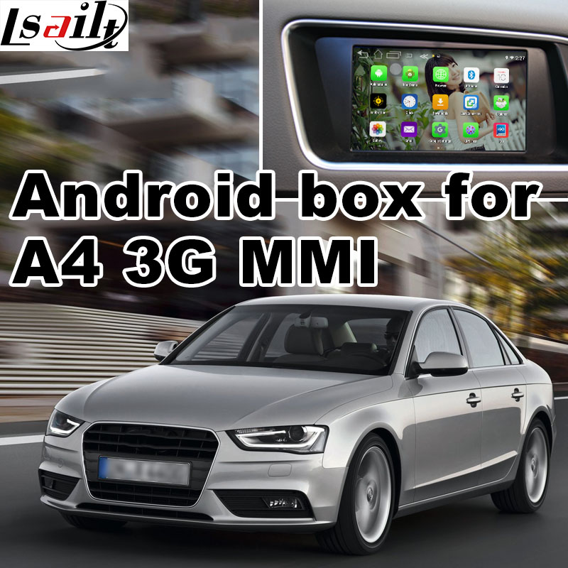 Android GPS navigation box for Audi A4 3G MMI 7 inches video interface box mirror link