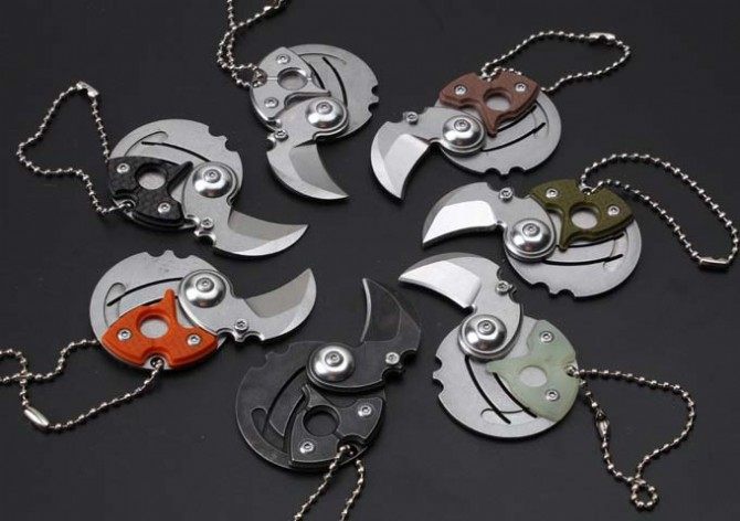 7 Options Coin font b knife b font 440 Blade Utility Coin Folding font b Knife