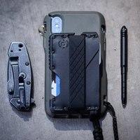 Металлический Зажим кошелек EDC Тактический Многофункциональный кошелек-Карточница армейское оборудование для вентиляторов инструмент дл...