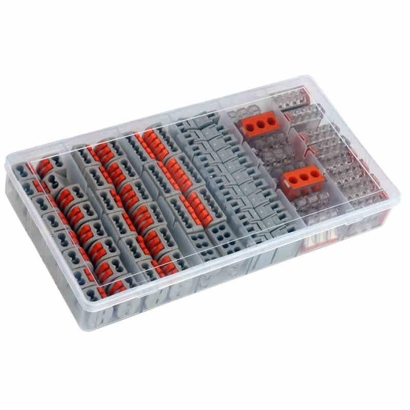 74 pièces Équivalent Wago D'épissage Compact LED Connecteurs Kit Connexion Rapide Borniers