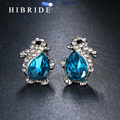HIBRIDE Jewelry Fashion Design Austrian AAA Cubic Zircon Stud Earrings For Weddding Gifts E-50