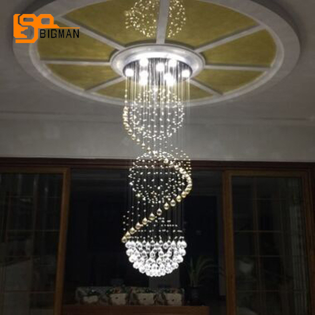 New Design Contemporary Crystal Chandeliers Lighting Wideth 50cm Modern Stairs Chandelier