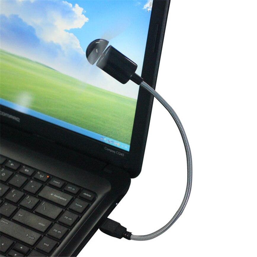 E5 гибкий USB мини вентилятор охлаждения кулер для ноутбука Настольный ПК компьютер jun15