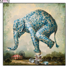 MOONCRESIN DIY Diy Diamond Painting Cross Stitch Ceramic Elephants Mosaic Square Full Dirll Embroider Decoration