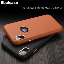 Leather Back Cover For IPhone 7 Case Coque Soft Ultra Thin Shockproof Case for iPhone XR X XS MAX 6 6S 7 7S 8 Plus Cover Fundas(China)