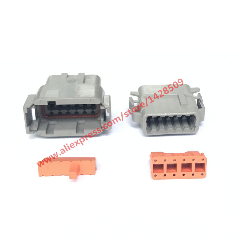 5 Sets DTM Auto Deutsch Connector DTM04-12P / ATM04-12P DTM06-12S / ATM06-12S 12 Pin Automotive Connector With Pin цена