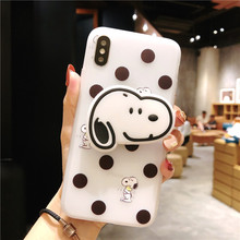 mobile phone cover with air bag Stand holder New Cute Cartoon Silicone case for iphone X XR XS XS Max 6 6s 7 8 7plus