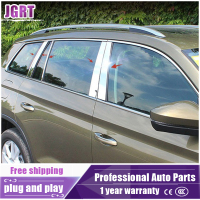 JGRT Car Styling For Skoda Kodiaq 2017 Model High Quality Stainless Steel Window Pillars 10 Pcs