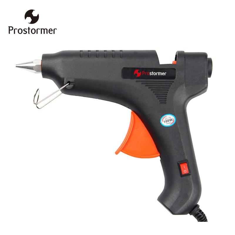 Prostormer 100 W Hot Melt Pistola de Cola EU plug Professional Hot Melt Aquecimento Pistola de cola Artesanato Repair Tool pistolet um colle 11mm
