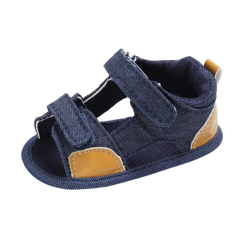 TELOTUNY 2018 Summer Baby Boys  Shoes   Toddler Canvas Infant Kids Girl Boys Soft Sole Crib Toddler Newborn  Shoes UK F2