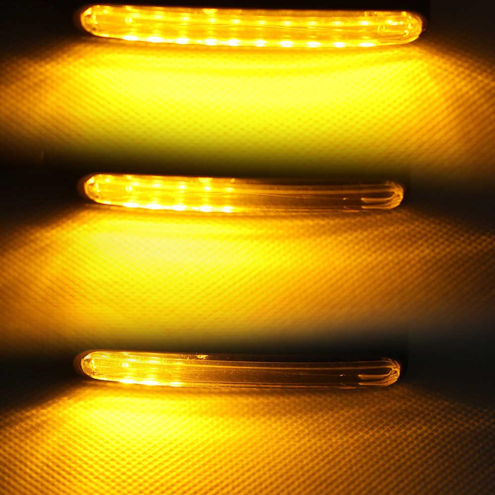 2pcs 12 LED אופנועים הפעילו אורות איתותים זורם מהבהב אופנוע מחוון נצנץ Moto זנב אורות אות מנורת להארלי