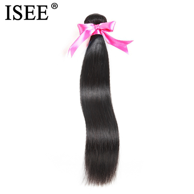 ISEE HAIR Malaysian Straight Hair Bundles 100% Remy Human Hair Extension Natural Color 1/3/4 Bundles Straight Hair Weaves