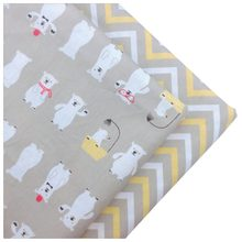 Syunss Diy Patchwork Quilting Baby Cribs The Cloth Cushions Blanket Sewing Tissus Cartoon Bear Wave Printed Cotton Fabric Tecido(China)