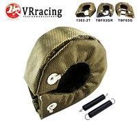 VR RACING 100 Full TITANIUM Turbo Heat Shield T3 Turbo Blanket Fit T2 T25 T28 Gt28
