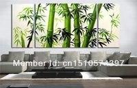 Garantito al 100% di trasporto libero nuovo moder astratta della decorazione della parete pittura a olio di bambù 3 pz/set di arte della parete della decorazione della casa della parete immagini