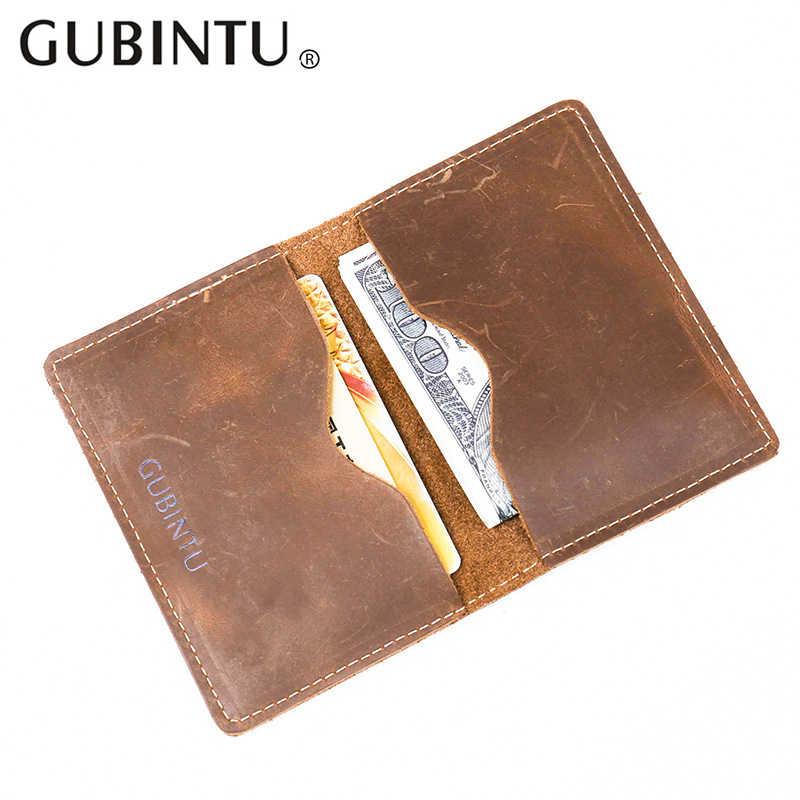 Leather Card Holder Wallet Crazy Horse Leather Simple Style leather Card Holder Purse Men Real Leather Card Wallet Man