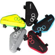 Cuadro sillín bolsa bicicleta triángulo bolsas bicicleta tubo delantero funda cartuchera sillín Panniers accesorios de bicicleta a prueba de agua