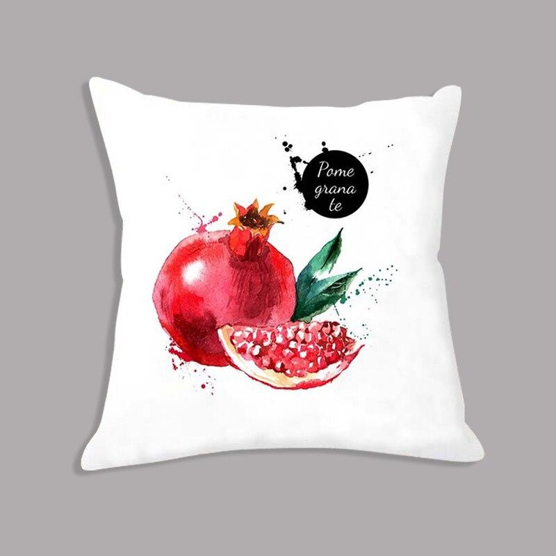 Soft Cushion 45x45cm Watermelon Grape In Colorful Fruit Printed Throw Pillow Decorative Cushion For Seat Chair Sofa Home Decor
