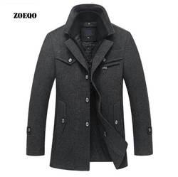 Дропшиппинг ZOEQO Новая зимняя обувь, шерстяные стельки зауженное пальто впору куртки Для мужчин s Повседневное теплая верхняя одежда куртки