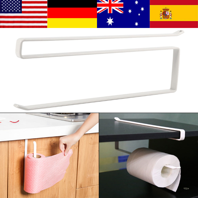 New Under Cabinet Shelf Organizer Storage Paper Towel: Metal Kitchen Storage Organizer Iron Hook Under Cabinet