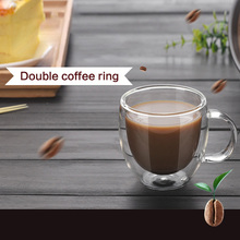 цена на Double Wall Glass Coffee Tea Cup Double Layer Heat-resistant Mugs With Handle Coffee Cup Milk Juice Drinkware for Home Office