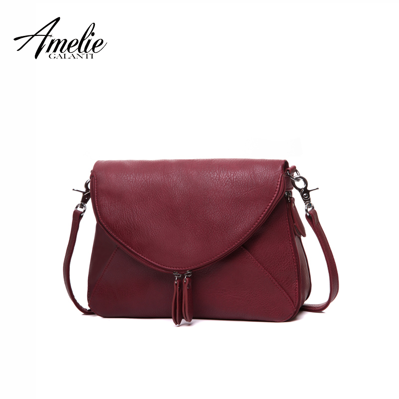 AMELIE GALANTI medium crossbody purse and handbags for women summer handbag  flap zipper over shoulder purse soft PU leather -in Top-Handle Bags from  Luggage ... 8b44cf9c2aa1c