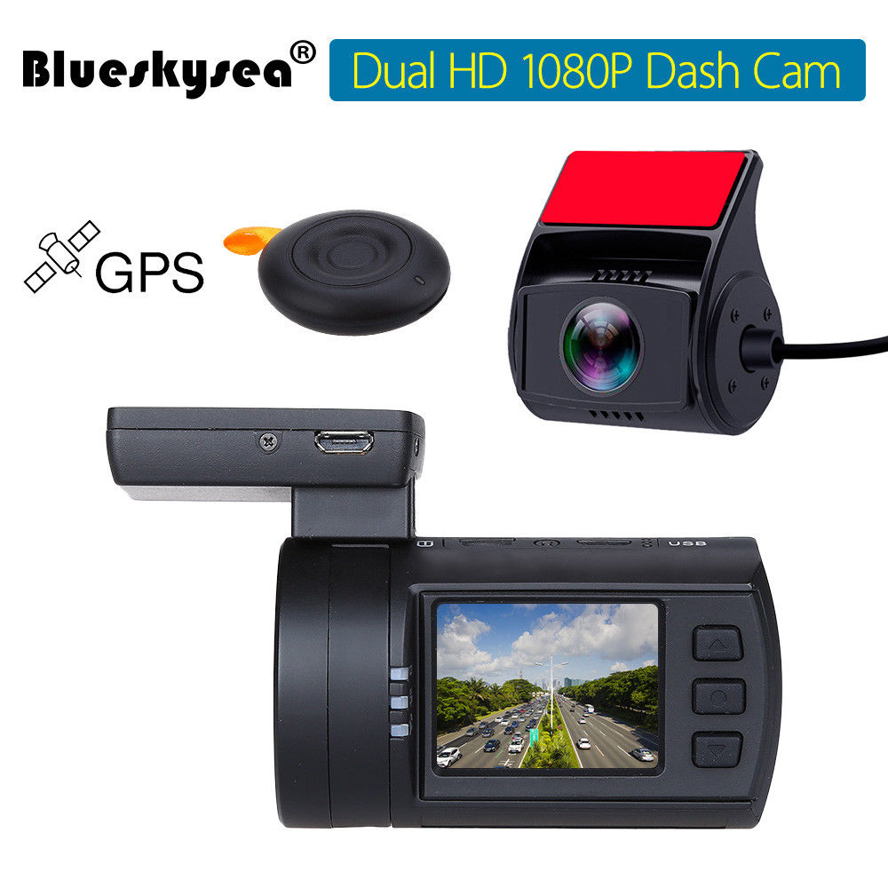 Blueskysea Mini 0906 Dual Dash font b Camera b font Full HD 1080P Car Dashcam Sony