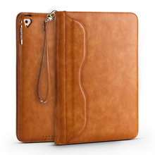 For iPad Air 1 Case PU Leather Luxury Business Folio Stand Pocket Auto Wake Smart Cover With lanyard For Apple iPad Air 2 Case apple smart case для ipad air 2
