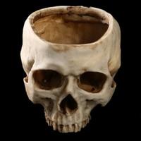New Hot Artificial Human Skull Head Design Flower Pot Planter Container Replica DIY Home Bar Decorations